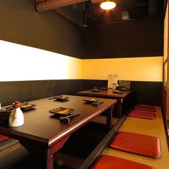 ゆったりとした雰囲気の個室 2名様より可