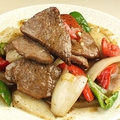 料理メニュー写真油淋鶏/牛肉の黒胡椒炒め/豚肉カシューナッツ炒め 各