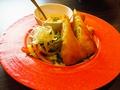 料理メニュー写真チーズリゾットin春巻き