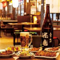 ビール・ハイボール・日本酒・焼酎など、お酒も豊富!