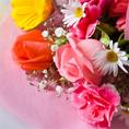 サプライズ演出をされたい方はご相談ください。花束やプレゼント等、サプライズ演出のためにお預かりできます。