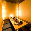 【6~10名様】各種宴会に居心地の良い空間で楽しめる個室席。おすすめの宴会コースは2時間食べ放題&飲み放題付3000円(税込)~ご用意しております。