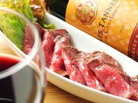 ワインのお共に。数種類のお料理をお楽しみ下さい。