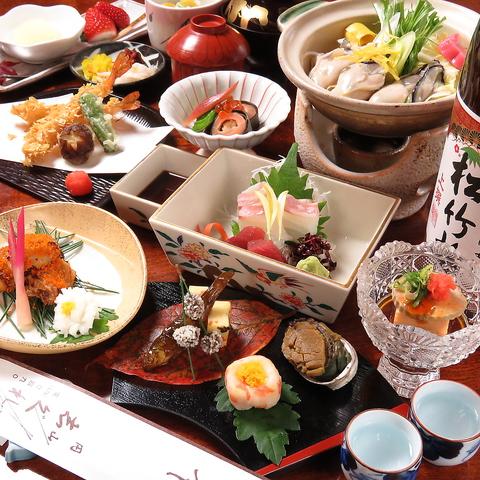 季節の彩りを見せる京都の名所、円山公園内!四季折々の京料理をご堪能ください。