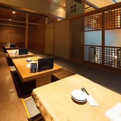 2名~6名様までお使いいただける掘りごたつ式のお席です。仕切りを外せば、最大28名様までご利用可能です。プライベート使いから、大人数宴会まで対応可能となっておりますので、様々なシーンでご利用ください☆また当店は京阪香里園駅徒歩2分の立地で集まるには最適!!皆様のお越しをお待ちしております。