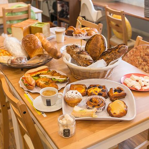 本場フランスの伝統製法にこだわった本格パンの数々♪イートインスペース有!貸切可◎