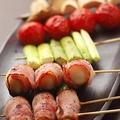 料理メニュー写真おまかせ串焼5本盛