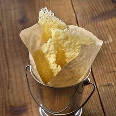 料理メニュー写真ラクレットチーズせんべい