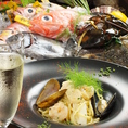 【魚介と季節のお野菜のおダシがぎゅっと凝縮されたスープが絶品!!】 〆のパスタ、リゾットは1人前800円