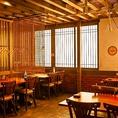 21~40人利用可能な広々とした空間は大人数での宴会や飲み会にオススメ◎