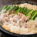 料理メニュー写真もつ鍋(しょうゆ、味噌)1人前