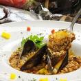 【魚介の旨味が濃厚なスープで作る最後の〆のリゾットは超美味】♪ 〆のパスタ、リゾットは1人前800円