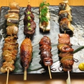 料理メニュー写真串焼き8本盛り