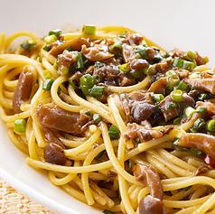 和風きのこの醤油スパゲッティ