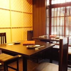 2名様~4名様テーブル席をご用意。普段のお食事や飲み会にもお気軽にご利用下さい。