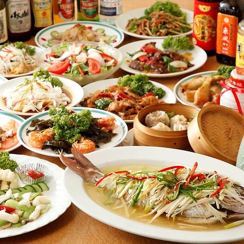 本格中華料理の食べ放題が大人気!、宴会向けの食べ飲み放題は2880円~★