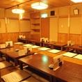 .大人数でのご宴会に最適のお座敷席。送別会、歓迎会に最適な空間となっております。