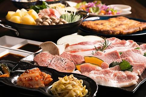 本場韓国スタイルの焼肉や美肌鍋など韓国料理が自慢!アルコール・ドリンクの種類も◎