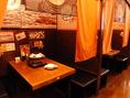 人気の半個室は2部屋のご用意となります。