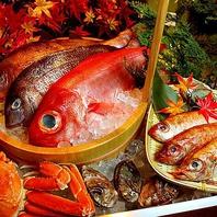 ◆新鮮魚介を使った料理が豊富!