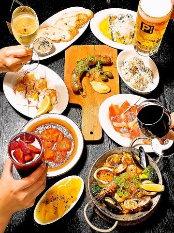 スペインの風を感じる…タパスやスペイン料理、ワイン、シェリー酒など全て本格派★