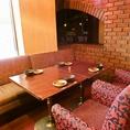 ゆったりお座りいただけるこちらのお席は、接待・会食といった外せない日のご宴会にもおすすめ!