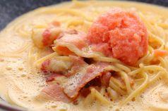 料理メニュー写真ベーコン・明太子のカルボナーラ