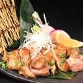 料理メニュー写真新潟地鶏の地酒焼き