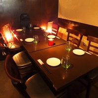広々テーブル席は2名様~!ご宴会は最大40名様までOK!
