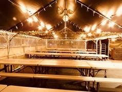 ノルベサビアガーデン ザ月光は団体100人収容!テント席がありますので雨でも安心!!