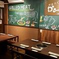 大き目のテーブルはゆっくりお食事できます♪高円寺駅・中野駅周辺で美味しいお店をお探しでしたら是非、からし亭をご利用ください★女子会、誕生日会、忘年会、新年会など各種ご宴会承ります!飲み放題付きコースの3490円~◎