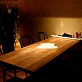 他の席とは周りが気にならないテーブル席は最大6名様まで利用可能