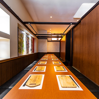 完全個室のプライベート個室で当店バル料理を堪能!
