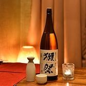 多くのお客様のご希望に添えられるよう、多種多様なお酒を、特に『日本酒』『焼酎』は数多くご用意しております。『獺祭』『久保田 千寿』などイチ押しの日本酒をはじめ豊富な種類をご用意しております。