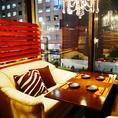 ■ソファ個室■窓際で女子会も人気