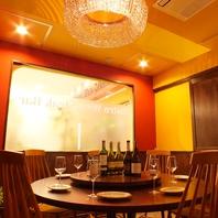 洋食スタイルでは珍しい円卓のテーブルをご用意♪