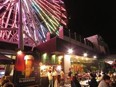 ノルベサビアガーデン ザ月光のドリンクコーナー・フードコーナー雰囲気最高!