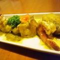 料理メニュー写真海老とじゃがいものバジルオイル /海老と彩り野菜のアヒージョ風