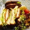 【TAKE OUTランチ】あったかサンドイッチ。◆厚切りベーコン600円◆デミカツ650円◆ステーキ880円(全て税別)出来立てをお召し上がり頂きたいので、ご注文頂いてから調理致します。ご来店前にお電話でのご注文がオススメです!!Tel:079-243-1001