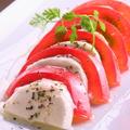 料理メニュー写真完熟トマトとモッツァレラのカプレーゼ