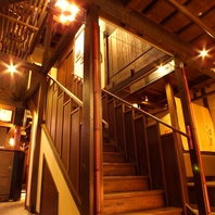 映画のセットのような階段