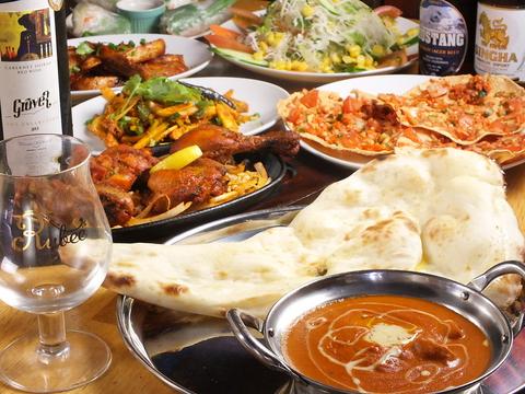 ランチもディナーもお得に♪本格アジアン料理!