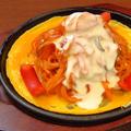 料理メニュー写真チーズフォンデュがけナポリタン