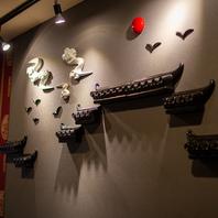 店内各所中国をイメージとしたインテリア