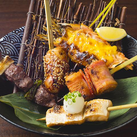 厳選された日本酒と旬の創作和食と串料理。まさに大人の贅沢マリア―ジュ