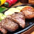 ステーキ、ハンバーグ、ロブスター、チキンなど…何を食べようか迷っちゃう!そんなときはよくばりコンボを!!