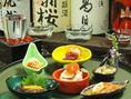 旬の珍味が日本酒との相性バツグン!!内容は仕入れ状況によって変わるので、お気軽にお問い合わせください!