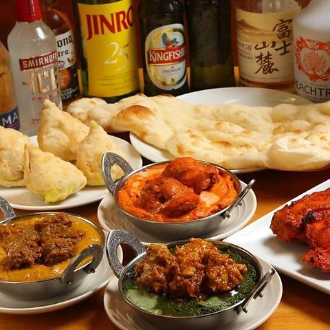 インド人シェフが作る本場のインド料理が楽しめる♪歓送迎会も受付中!
