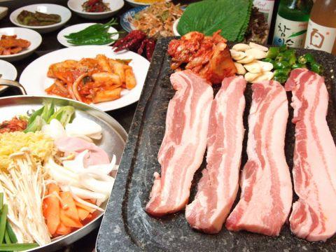 韓国料理120分食べ放題コース3000円(2名様〜)
