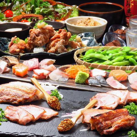 地元福岡の味 夏の宴会コース飲み放題2.5時間付き(地酒12種含む)4000円コース